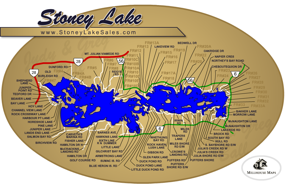Map Of Stoney Lake Stoney Lake   Lakefield Real Estate   Greg Ball & Judy Ball   Ball