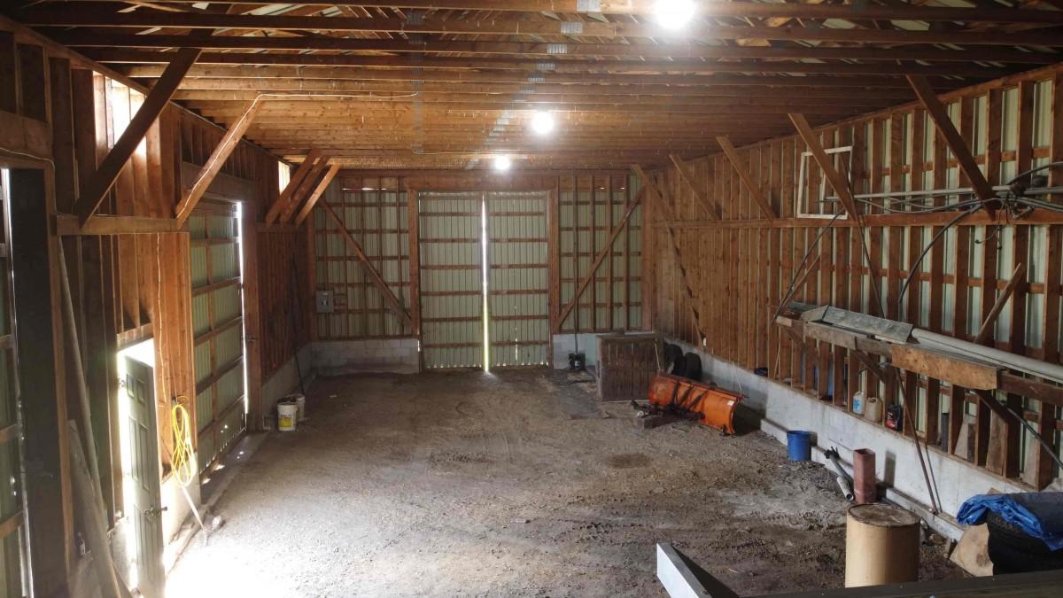Barn Interior 26 x 126 ft.