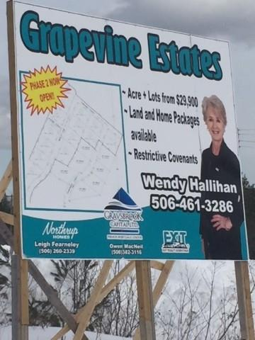 LOT 13 Malbec Lane, Noonan, New Brunswick (ID 06387531I)