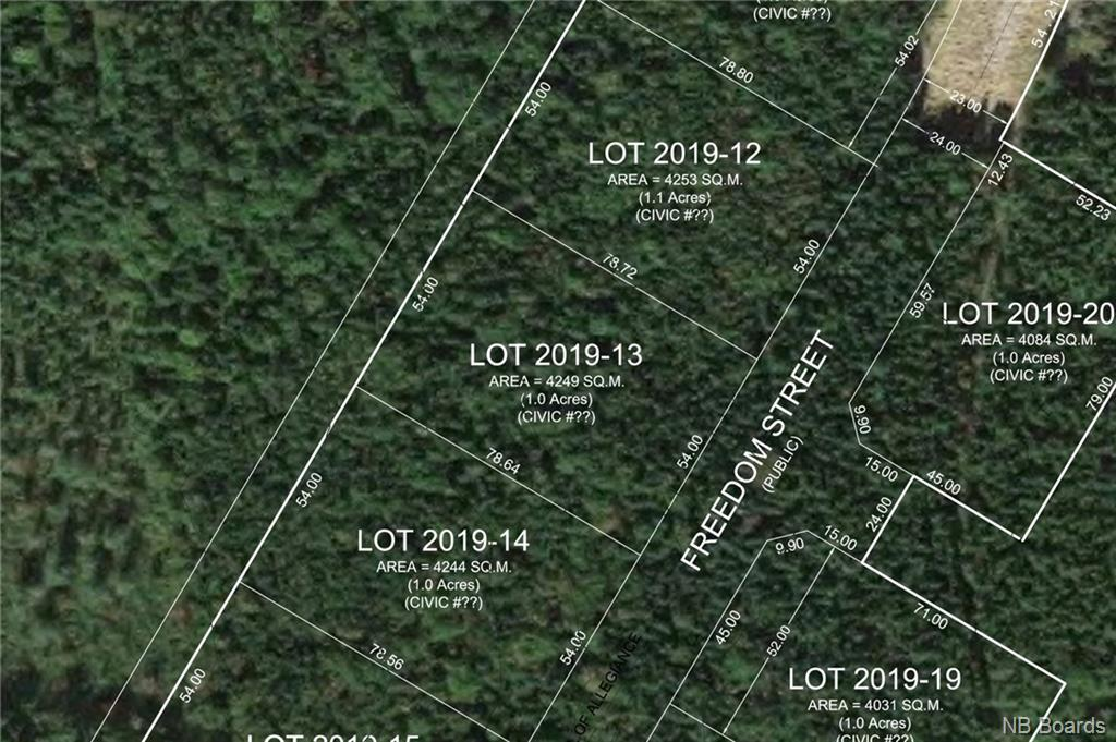 Lot 2019-13 Freedom Street, Killarney Road, New Brunswick (ID NB043065)