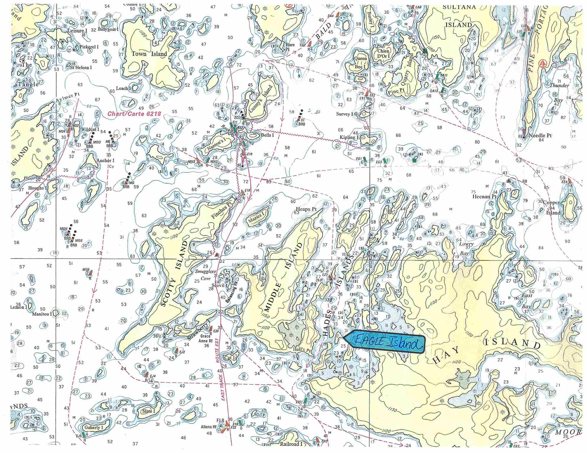 Island G830 The Hades, Lake of the Woods (ID TB190598)