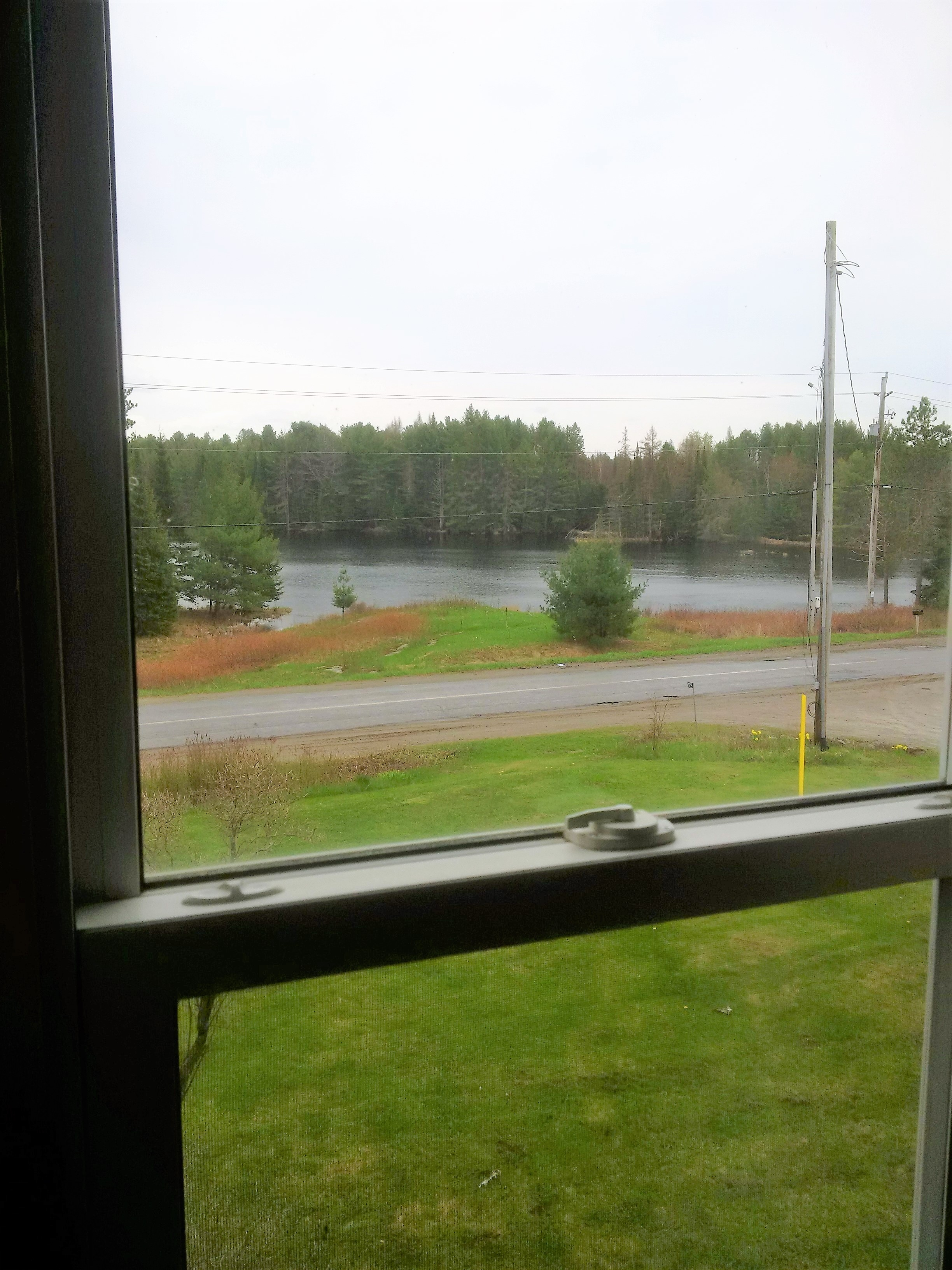 Pond view from master bedroom