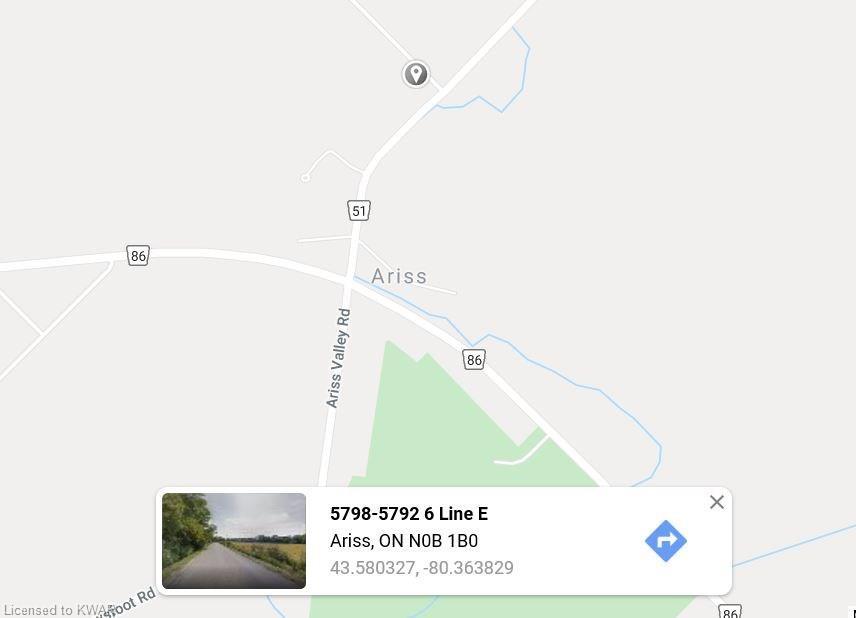 5782 Sixth Line East R R #2 ., Ariss, Ontario (ID 30763410)