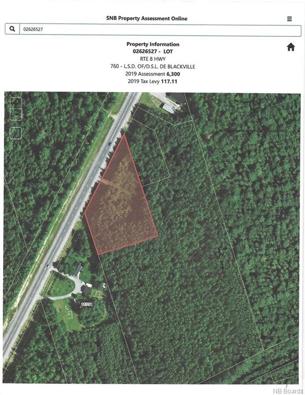 Lot 8 Route, Upper Blackville, New Brunswick (ID NB040464)