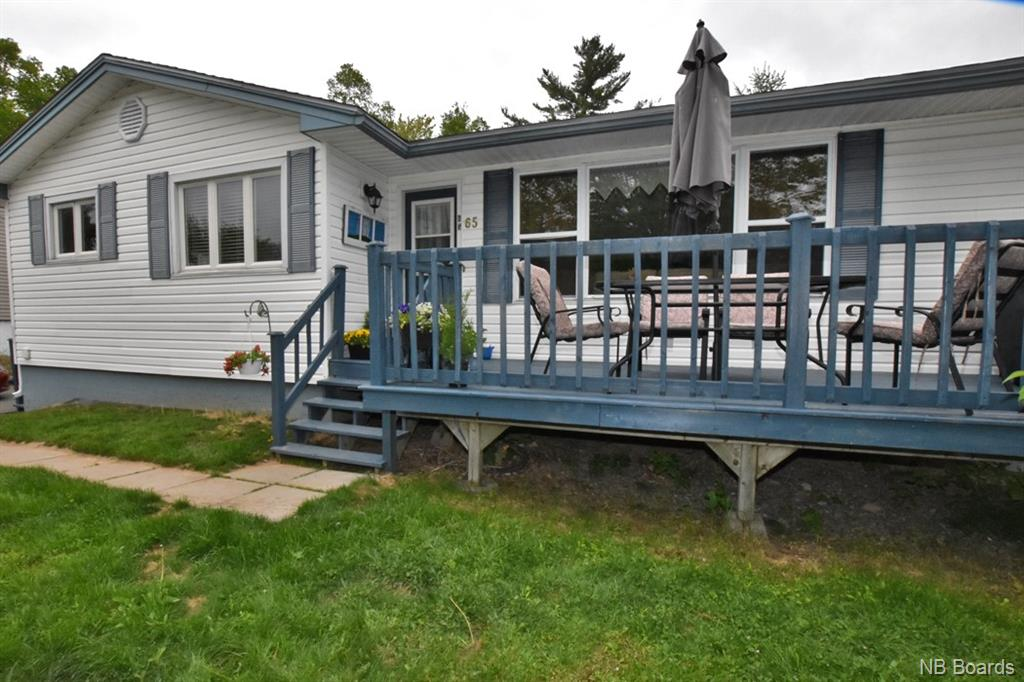 large deck overlooking yard