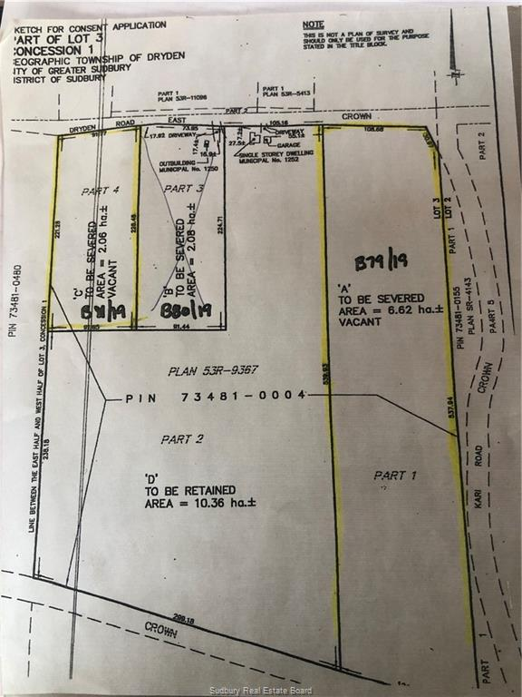 1252 Dryden Rd E Unit# LOT C, Wahnapitae, Ontario (ID 2094568)