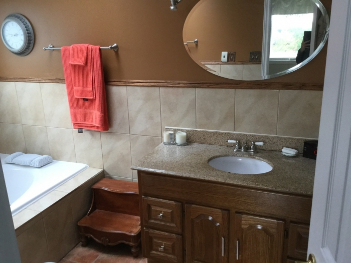 Ensuite with heated floors