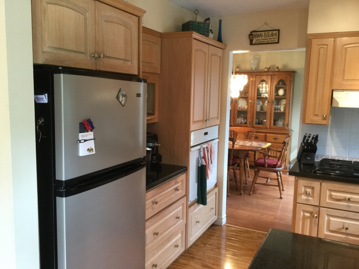 Beautiful cabinets with built in appliances