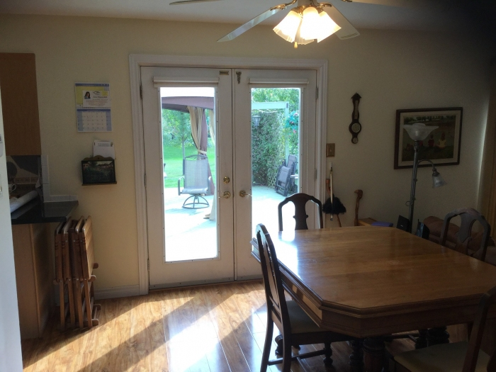 Patio doors to outside deck