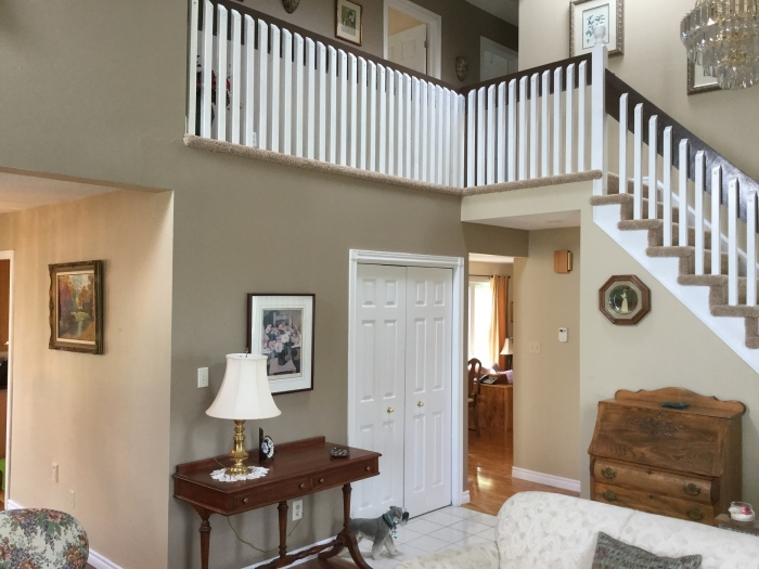 Lovely open concept with cathedral ceilings
