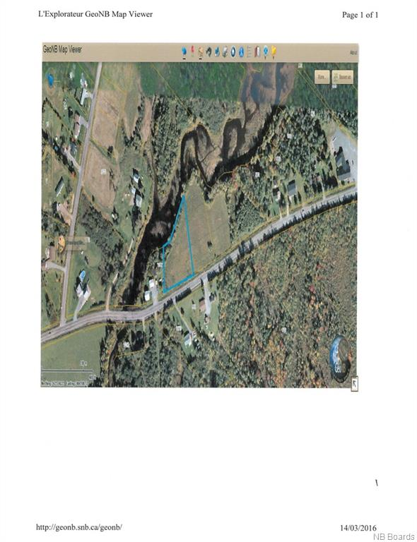 Lot 1 655 Route, Waasis New Brunswick, Canada