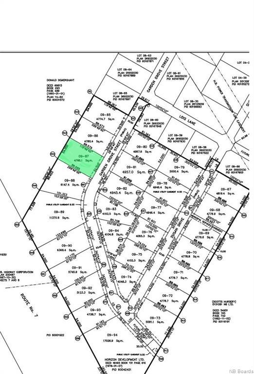 Lot 09-87 Garden Grove Street, Lincoln New Brunswick, Canada