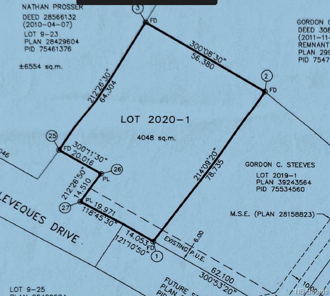 Lot 2020-1 Levesque Drive, Charters Settlement New Brunswick, Canada