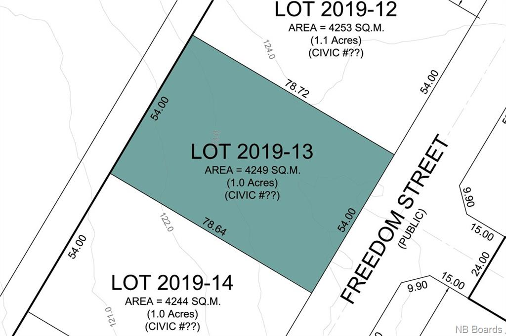 Lot 2019-13 Freedom Street, Killarney Road New Brunswick, Canada