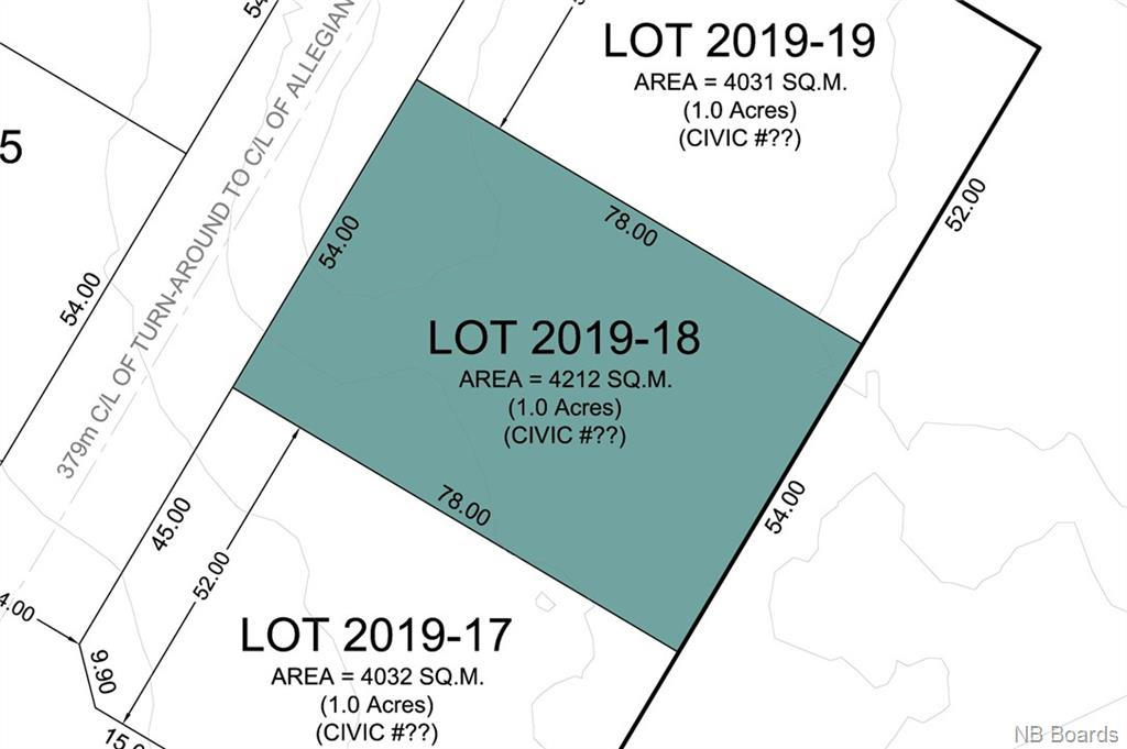 Lot 2019-18 Freedom Street, Killarney Road New Brunswick, Canada