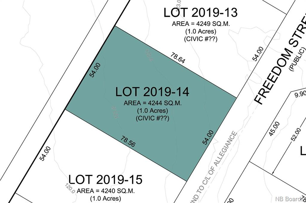 Lot 2019-14 Freedom Street, Killarney Road New Brunswick, Canada