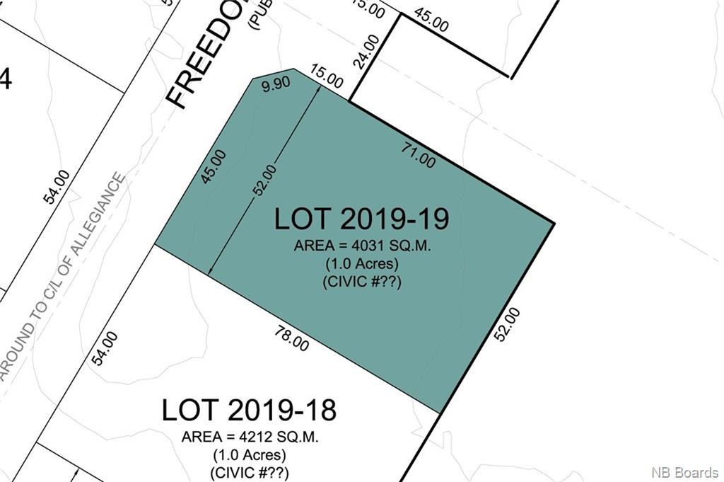 Lot 2019-19 Freedom Street, Killarney Road New Brunswick, Canada