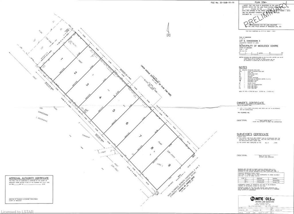 254 Union (proposed) Avenue, Komoka Ontario, Canada