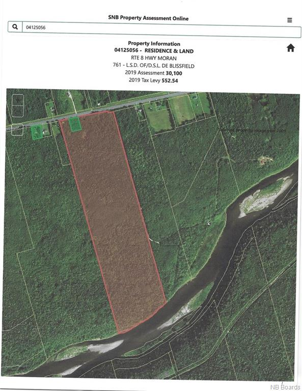 Lot 8 Route, Blissfield New Brunswick, Canada