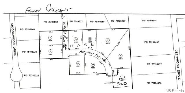 Lot 13- 28 White Fox Drive, Hanwell New Brunswick, Canada